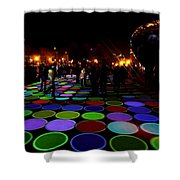 Luminous Field Shower Curtain