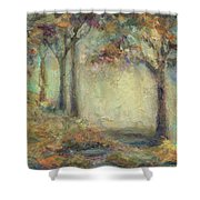 Luminous Landscape Shower Curtain