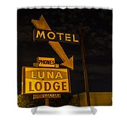 Luna Lodge Night Shower Curtain