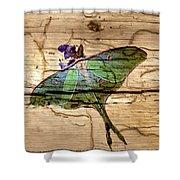 Luna Moth Worm Wood  Shower Curtain