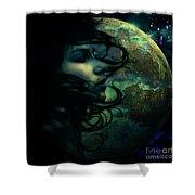 Lunar Child Shower Curtain