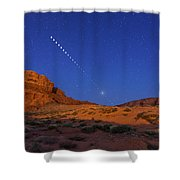 Lunar Eclipse Sequence From Monument Shower Curtain