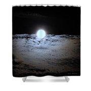 Lunar Ocean Shower Curtain