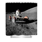 Lunar Ride Shower Curtain