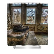 Lunatic Travel Time Shower Curtain
