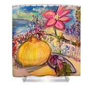 Lunch On The Terrace Shower Curtain