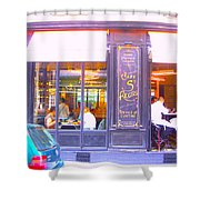 Lunch Time At The Cafe St Regis In Paris Shower Curtain