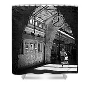 Lunchtime At Chelsea Market Shower Curtain by Rona Black