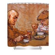 Lunchtime At Tim  Shower Curtain
