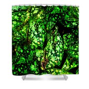 Lungwort Leaves Abstract Shower Curtain