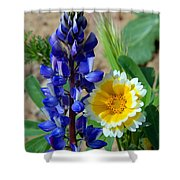 Lupine And Tidy Tip Shower Curtain