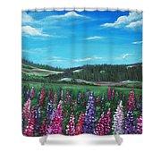 Lupine Hills Shower Curtain