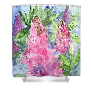 Lupine Time Shower Curtain
