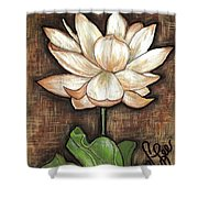 Lure Of The Lotus Shower Curtain by VLee Watson