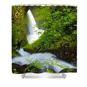 Lush Gorge Falls Shower Curtain