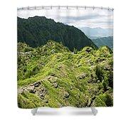 Lush Hawaiian Mountains Shower Curtain