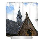Luss Church Steeple Shower Curtain
