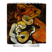 Lute Players Shower Curtain