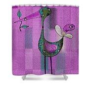Lutgarde's Bird - 061109106-purple Shower Curtain