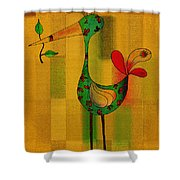 Lutgarde's Bird - 061109106-wyel Shower Curtain by Variance Collections