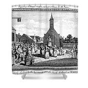 Lutheran Wedding, 1700s Shower Curtain by Granger