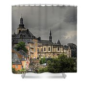 Luxembourg City Shower Curtain