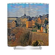 Luxembourg Fortification Shower Curtain