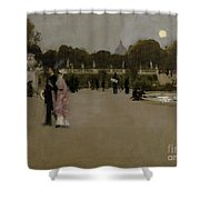 Luxembourg Gardens At Twilight Shower Curtain by John Singer Sargent