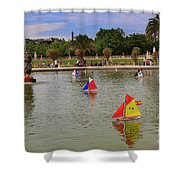 Luxembourg Gardens Paris Shower Curtain