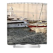 Luxury Boats At St.tropez Shower Curtain