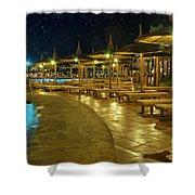 Luxury Hotel At Night Shower Curtain
