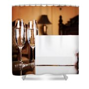 Luxury Hotel Room Shower Curtain