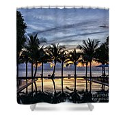 Luxury Infinity Pool At Sunset Shower Curtain