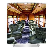 Luxury Lounge Car Of Early Railroading Shower Curtain