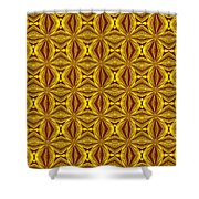 Luxury Red And Gold Christmas Kaleidoscope Shower Curtain
