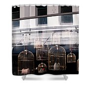 Lv Gilded Cage Bags Shower Curtain