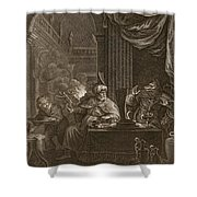 Lycaon Metamorphosed Into A Wolf, 1731 Shower Curtain