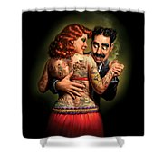 Lydia The Tattooed Lady Shower Curtain