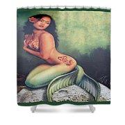 Lydia The Tattooed Mermaid Shower Curtain