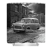 Lye Rain Storm, Ford Prefect Van - 1960's    Ref-244 Shower Curtain