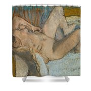 Lying Nude Woman Shower Curtain