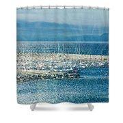 Lyme Regis Under Glass Shower Curtain