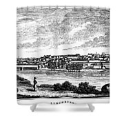 Lynchburg, Virginia, 1856 Shower Curtain