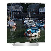 Lynmouth Harbour Devon Shower Curtain