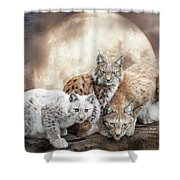 Lynx Moon Shower Curtain