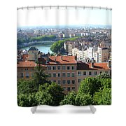 Lyon From Above Shower Curtain