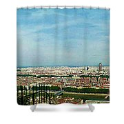 Lyon From The Basilique De Fourviere-color Shower Curtain