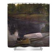 Lyons Falls  - Moose River Shower Curtain