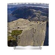Lysefjord With Prekestolen Shower Curtain