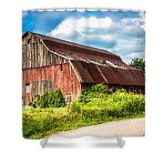 M-99 Barn Shower Curtain